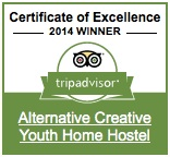Certificate of Excellent 2014 Winner, Alternative Creative Youth Hostel Barcelona